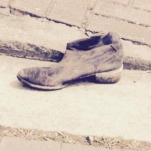 """No wallet, one shoe, so grateful . . . ."""