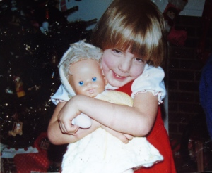 Amy and her much-loved doll, Ka'wen.